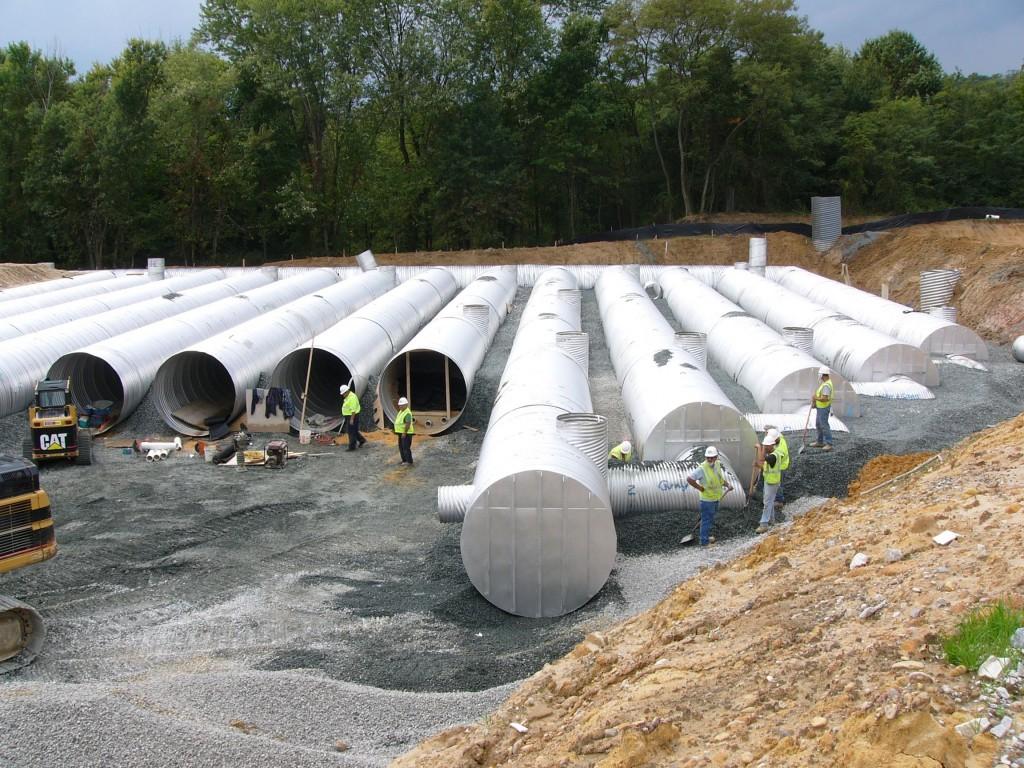 Grey stormwater installation in Maryland